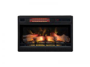 Inbouwhaard 3D vuur met houtstammen
